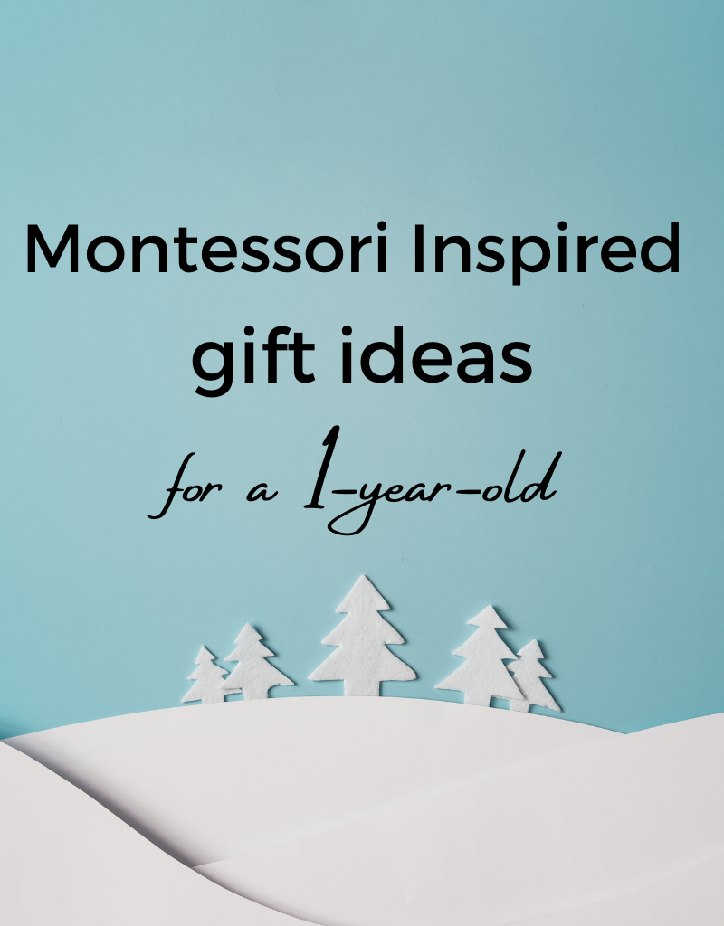 Montessori gifts for one year old