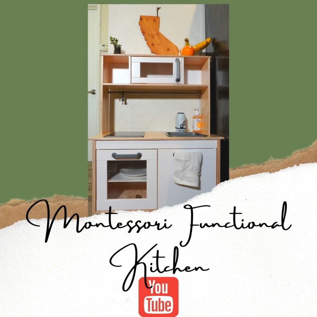 make a functional ikea play kitchen with running water