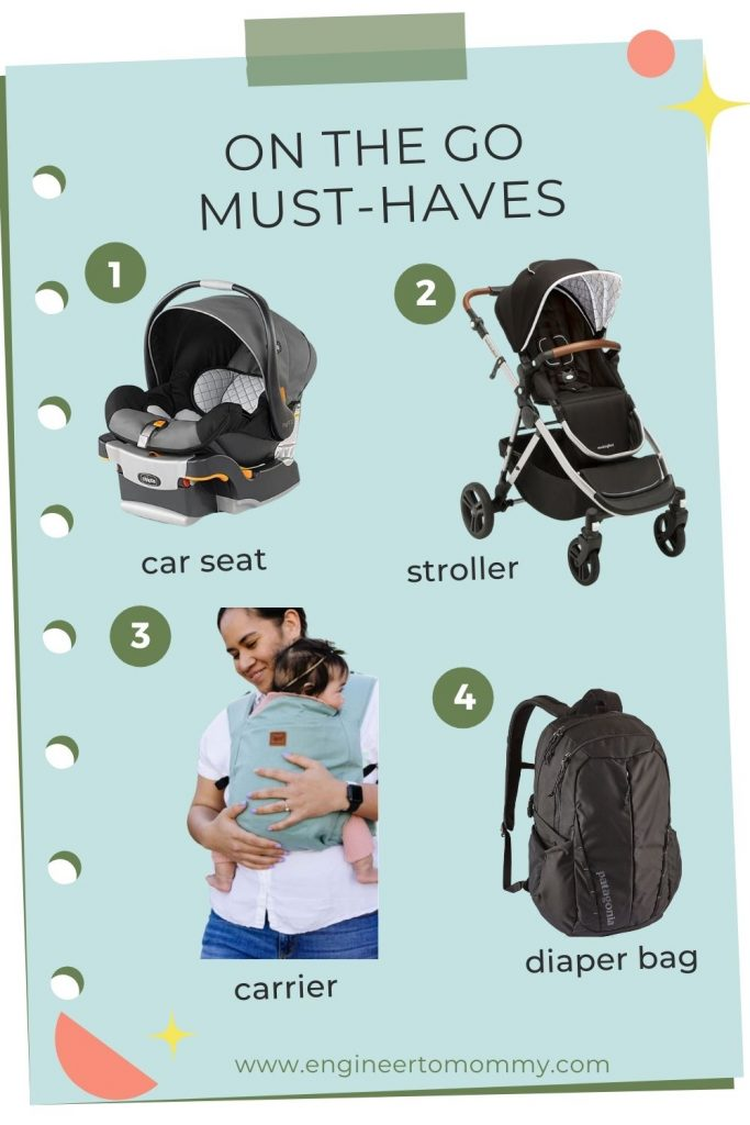 on the go must have list with image of each item